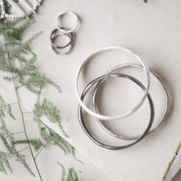 Tutti and Co Jewellery Kiera Bracelet Three Uneven Bangles BR339S