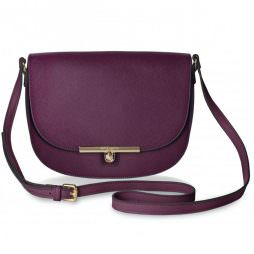 Katie Loxton Cece Saddle Shoulder Bag Burgundy