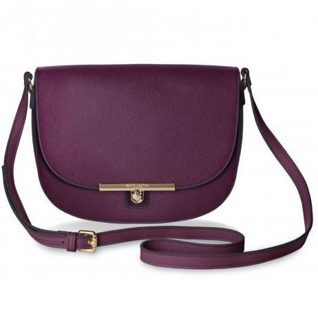 Katie Loxton Cece Saddle Shoulder Bag Burgundy