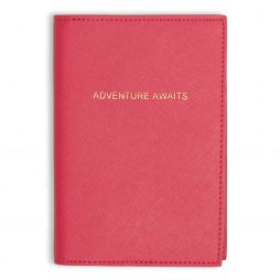 Katie Loxton Adventure Awaits Passport Cover Fuchsia Pink