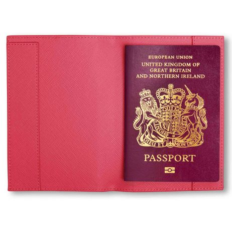 Katie Loxton Adventure Awaits Passport Cover Fuchsia Pink