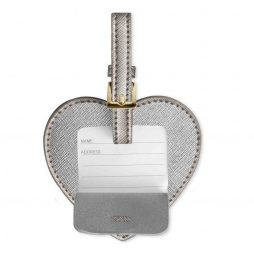 Katie Loxton Adventure Awaits Luggage Tag Metallic Charcoal KLB172