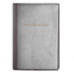 Katie Loxton Adventure Awaits Passport Cover Metallic Charcoal