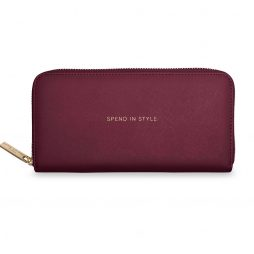 Katie Loxton Spend In Style Large Purse Burgundy