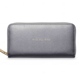 Katie Loxton Mine All Mine Large Purse Metallic Charcoal *