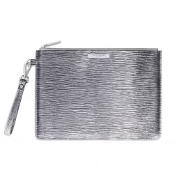 Katie Loxton Zara Large Clutch Bag Metallic Silver *