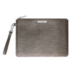 Katie Loxton Zara Large Clutch Bag Metallic Mocha