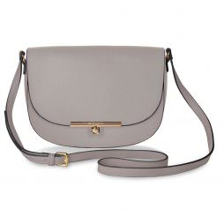 Katie Loxton Cece Saddle Shoulder Bag Oyster Grey