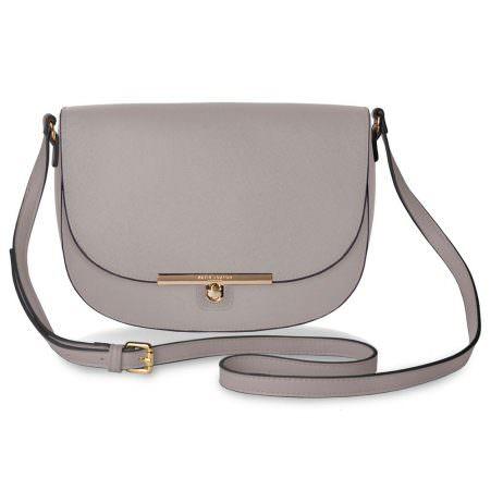 Katie Loxton Cece Saddle Shoulder Bag Oyster Grey - EOL