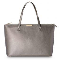 Katie Loxton Harper Tote Bag Metallic Mocha