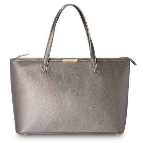 Katie Loxton Harper Tote Bag Metallic Mocha *