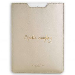 Katie Loxton Sparkle Everyday iPad Sleeve Metallic Silver