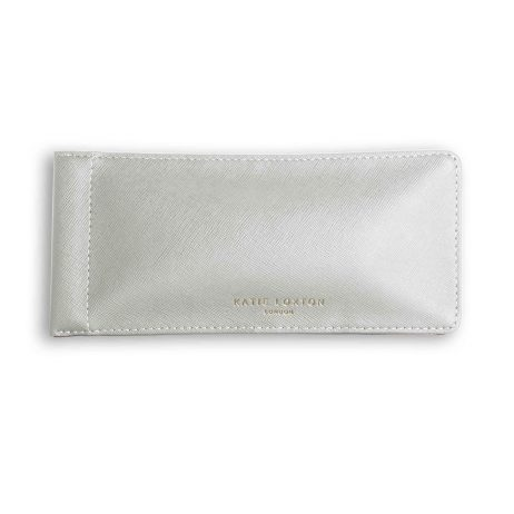 Katie Loxton Sparkle Everyday Glasses Case Metallic Silver