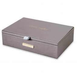 Katie Loxton Sparkle Everyday Jewellery Box Metallic Charcoal