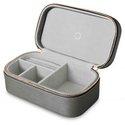 Katie Loxton Travel Jewellery Box All That Glitters Metallic Charcoal KLB221