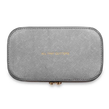 Katie Loxton Travel Jewellery Box All That Glitters Metallic Charcoal