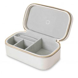 Katie Loxton Travel Accessories Jewellery Box Sparkle and Shine Metallic White KLB222