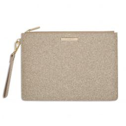 Katie Loxton Stardust Clutch Bag Sparkly Champagne