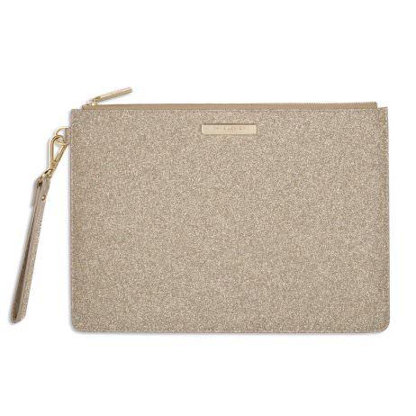 Katie Loxton Stardust Clutch Bag Sparkly Champagne *