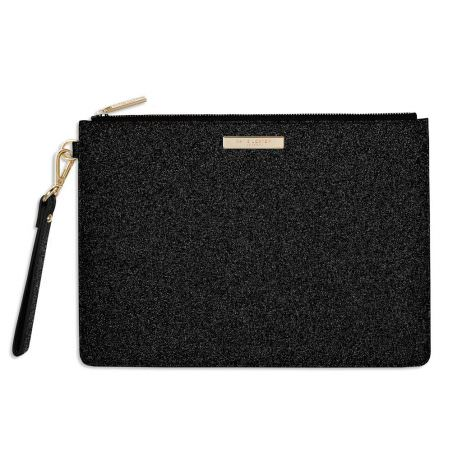 Katie Loxton Stardust Clutch Bag Sparkly Black