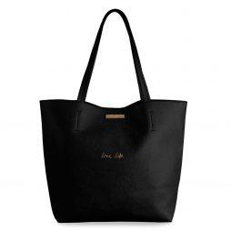Katie Loxton Parker Love Life Black Shopper Bag
