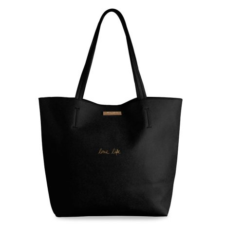 Katie Loxton Parker Love Life Black Shopper Bag