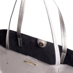 Katie Loxton Shine Bright Parker Shopper Bag Metallic Charcoal KLB231
