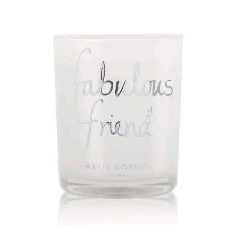 Katie Loxton Fabulous Friend Silver Candle