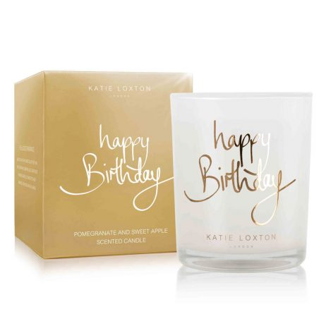 Katie Loxton Happy Birthday Gold Candle