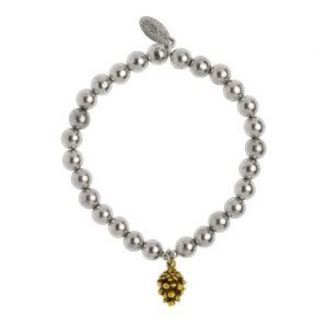 Hultquist Jewellery Silver and Gold Fir Cone Bracelet