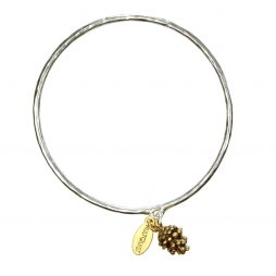 Hultquist Jewellery Silver and Gold Fir Cone Bangle