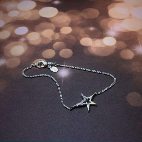 Joma Jewellery Silver Pave Star Struck Bracelet 1834