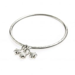 Danon Jewellery Mini Star Charms Silver Bangle