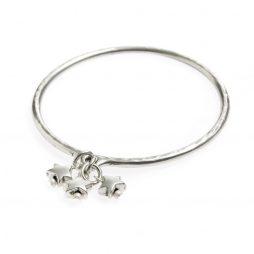 Danon Jewellery Mini Star Charms Silver Bangle