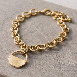Danon Jewellery Inner Circle Gold Link Bracelet