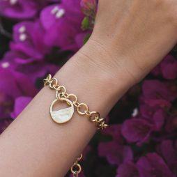 Danon Jewellery Inner Circle Gold Link Bracelet B3832GF