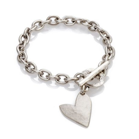 Danon Jewellery True Love Silver Heart T-Bar Bracelet