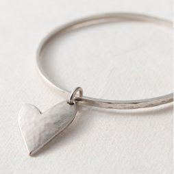 Danon Jewellery True Love Silver Heart Bangle