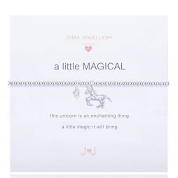 Joma Jewellery Girls a little Magical Bracelet Silver Unicorn C160