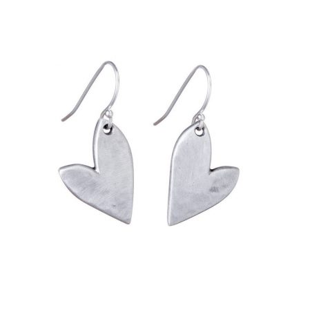 Danon Jewellery Mini True Love Silver Heart Drop Earrings
