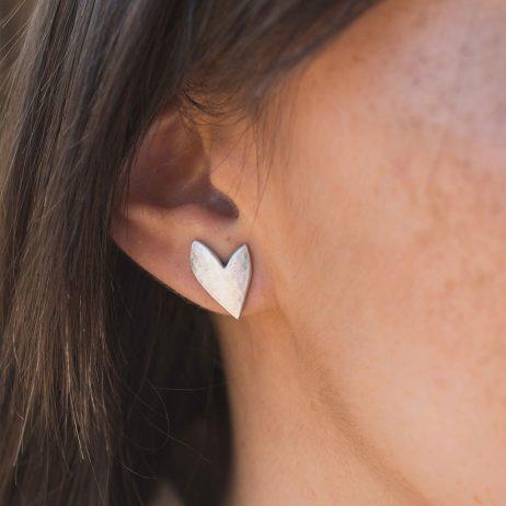 Danon Jewellery True Love Silver Heart Stud Earrings