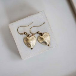 Tutti and Co Jewellery Isla Gold Heart Drop Earrings