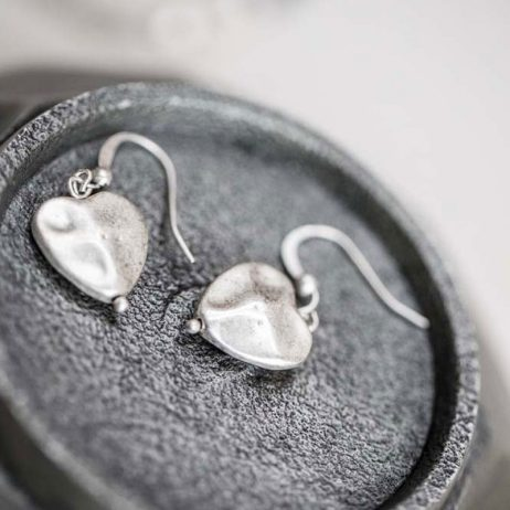 Tutti and Co Jewellery Isla Silver Heart Drop Earrings