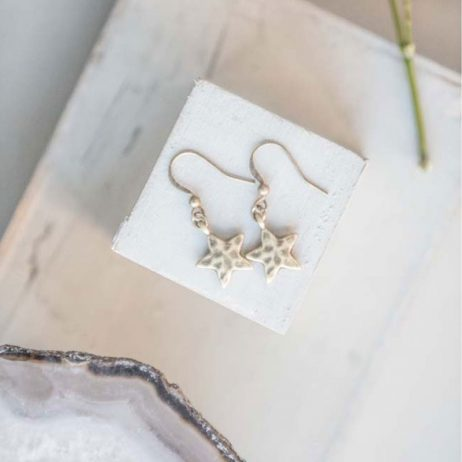 Tutti and Co Jewellery Star Drop Earrings Gold