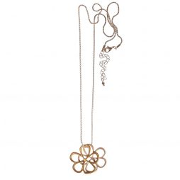 Hot Tomato Jewellery Long Silver and Gold Daisy Necklace