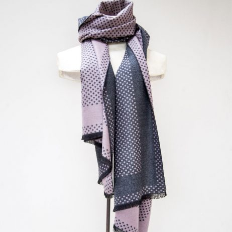 Tutti and Co Plum Spot Selvedge Scarf