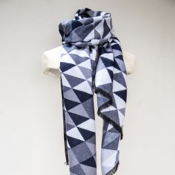 Tutti and Co Navy Geometric Scarf S166