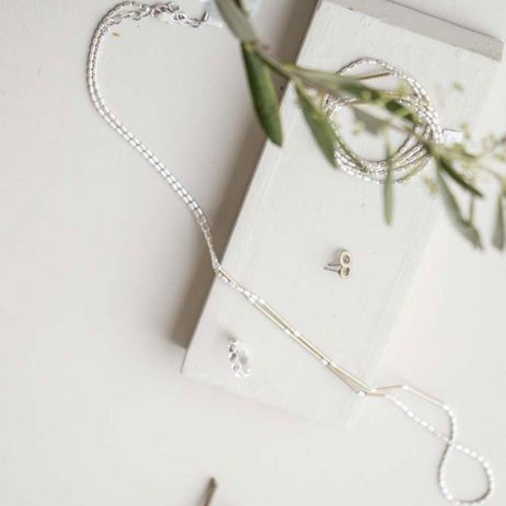 Tutti and Co Jewellery Christie Long Simple Silver Bar Chain Necklace