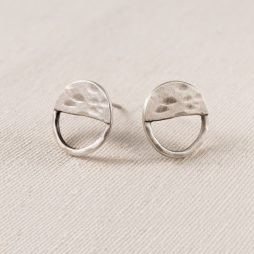 Danon Jewellery Inner Circle Silver Stud Earrings