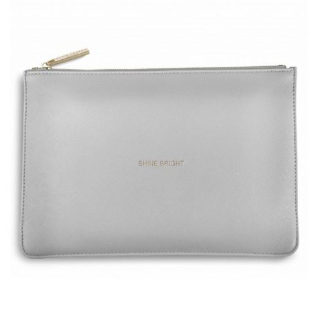 Katie Loxton Pale Grey Shine Bright Perfect Pouch